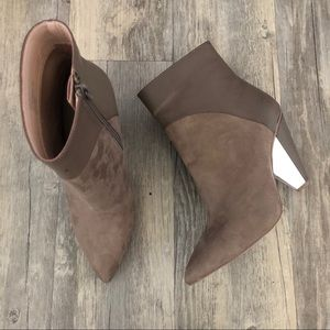 BCBGMaxazria Lara Taupe Pointed Toe Ankle Boots